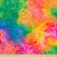 QT Fabrics Minky Mirage Abstract Multi