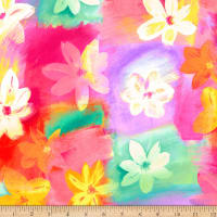 QT Fabrics Minky Callie Floral Abstract Multi