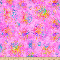 QT Fabrics Stretch Jersey Knit Radiance Splatter Light Pink