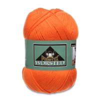 Phentex Worsted Yarn, Tangerine