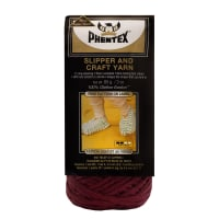 Phentex Slipper & Craft Yarn, Burgundy