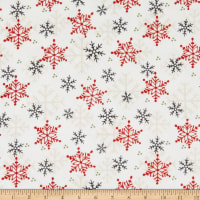 Henry Glass Flannel Gnomies Snowflake Multi