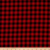 Henry Glass Flannel Gnomies Buffalo Check Red/Black