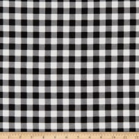 Henry Glass Flannel Gnomies Buffalo Check Black/White