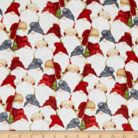 Henry Glass Flannel Gnomies Stacked Gnomes Multi