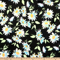 E.Z. Fabric Exclusive Minky Gerber Daisies White