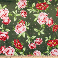 E.Z. Fabric Minky Roses Red & Pink