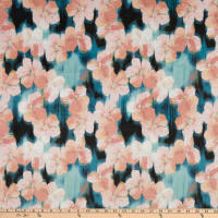 E.Z. Fabric Minky Floral Blossoms Pink/Blue