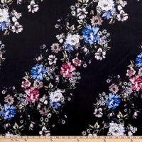 E.Z. Fabric Minky Floral Paths Black