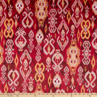 E.Z. Fabric Minky Ikat Red
