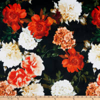 E.Z. Fabric Minky Florals Black