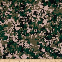 E.Z. Fabric Polyester Spun Jersey Knit Camouflage Green