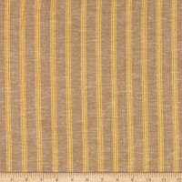 Fabtrends Boardwalk Rayon Linen Stripe Yellow