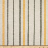 Fabtrends Boardwalk Rayon Linen Stripe Yellow Verde