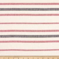 Fabtrends Boardwalk Linen Stripe Black/Amaretto