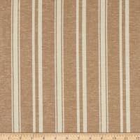 Fabtrends Boardwalk Rayon Linen Stripe Cappuccino