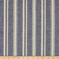 Fabtrends Boardwalk Rayon Linen Stripe Blue