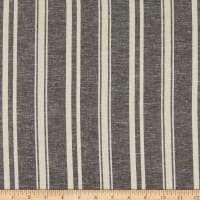 Fabtrends Boardwalk Rayon Linen Stripe Black