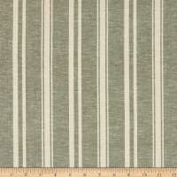 Fabtrends Boardwalk Rayon Linen Stripe Verde