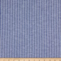 Fabtrends Yarndye Linen Look Small Stripe Blue