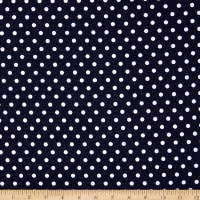 Fabtrends  DTY Aspirin Dot Navy White