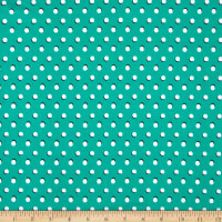 Fabtrends Dty Moon Dot Green White