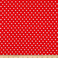 Fabtrends Dty Moon Dot Red White