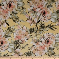 Fabtrends Hi Multi Chiffon Blossom Floral Yellow