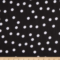 Fabtrends Yoryu Chiffon Dispersed Nickel Dots Black White