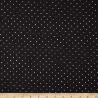 Fabtrends Yoryu Chiffon Pin Dot Black White