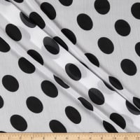 Fabtrends Yoryu Chiffon Full Moon Dot White Black