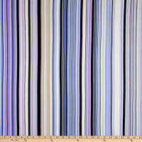 Fabtrends Washer Ghost Texture Crepe Variegated Stripe Lavender Peri