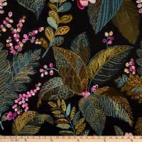 Hilary Farr Earthly Paradise Woven Embroidered Black Raspberry