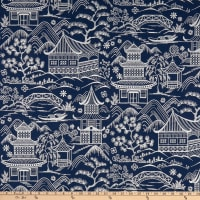 Hilary Farr Farr Away Woven Embroidered Indigo