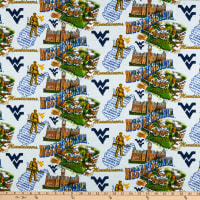 NCAA West Virginia Mountaineers Scenic Map Cotton Multi