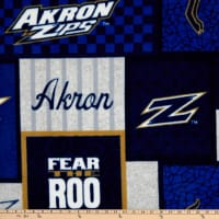 NCAA Akron Zips College Patch Fleece Multi