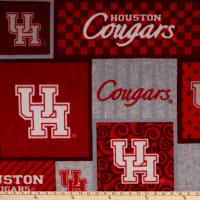 NCAA Houston Cougars College Patch Fleece Multi