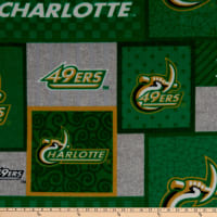 NCAA North Carolina Charlotte 49ers College Patch Fleece Multi