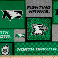 NCAA North Dakota Fighting Hawks College Patch Fleece Multi