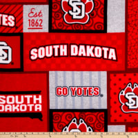 NCAA South Dakota Coyotes College Patch Fleece Multi
