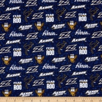 NCAA Akron Zips Tone on Tone Cotton Multi