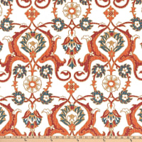 Lacefield Designs Tile Iznet Linen Duck Vermillion