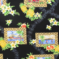 Trans-Pacific Textiles Day in Hawaii Lauhala Frame Black