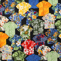 Trans-Pacific Textiles Spread the Aloha Shirts Black