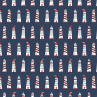 Camelot Nautical Lighthouses Navy
