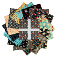 42 Pieces 5 Inch Fabric Charm Squares Boundless Rhapsody Modern Prints Spark