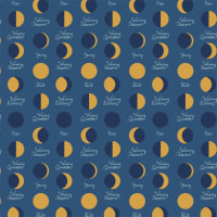 Camelot Moroccan Nights Lunar Phases Metallic Midnight