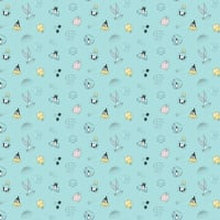 Looney Tunes Little Dreamer Characters on Heather Light Blue