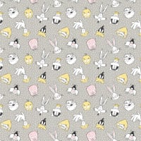 Looney Tunes Little Dreamer Characters on Spots Light Grey