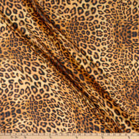 Fabric Merchants Silk Chiffon Cheetah Print Black/Taupe